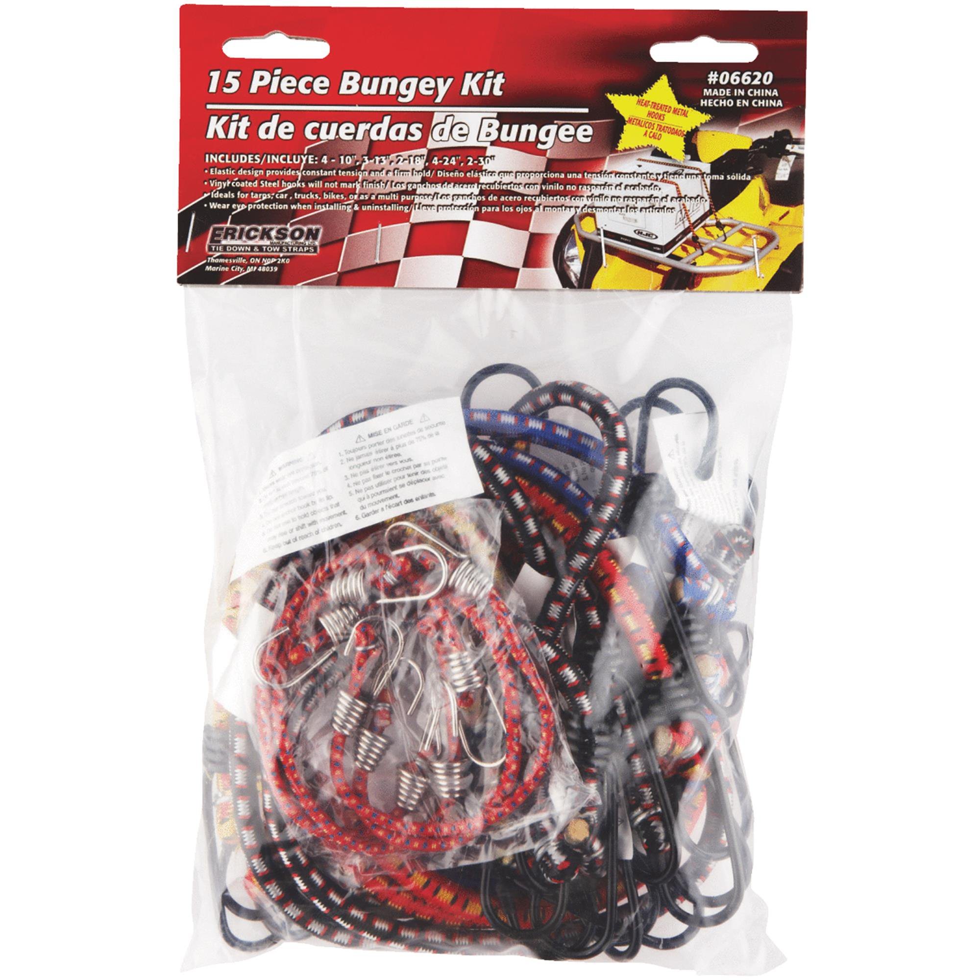 15-Piece Bungee Cord Set