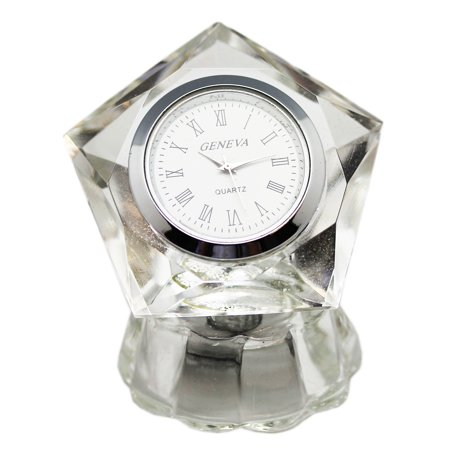 - Pentagon Shaped Small Crystal Desk Clock