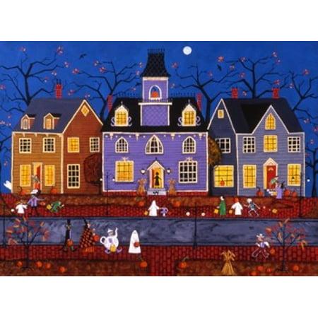 Halloween In Pleasantville Poster Print by Joseph Holodook (30 x 23) - Joseph Morgan Halloween
