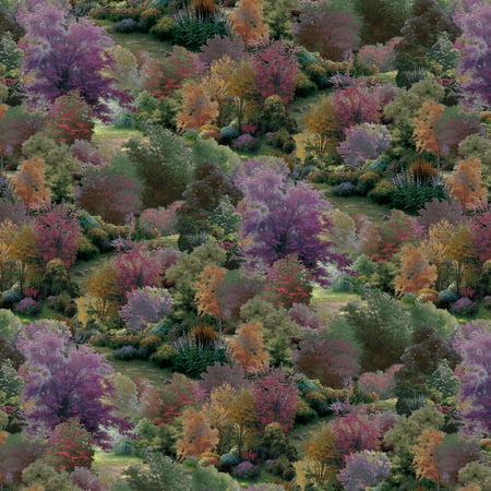 David Textiles Thomas Kinkade Spring Landscape Cotton 1-Yard Fabric Cut