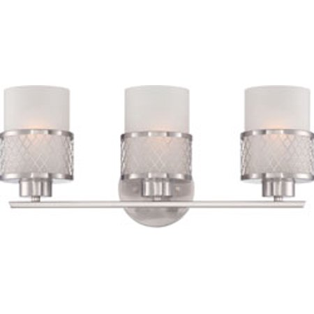 Replacement for 60/4683 FUSION 3 LIGHT VANITY FIXTURE WITH FROSTED GLASS BRUSHED NICKEL CONTEMPORARY replacement light bulb