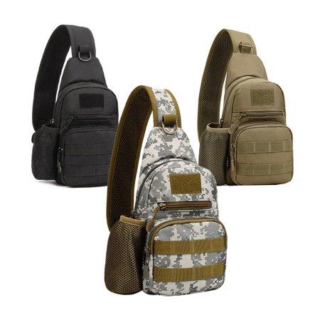 Sling Bag for Men Backpack Tactical Sling Chest Pack Shoulder Bag Hiking Travel Outdoor Sport (Male Hiking Bag)