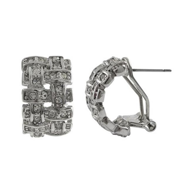 Dlux Jewels Sterling Silver Earrings & Crystal