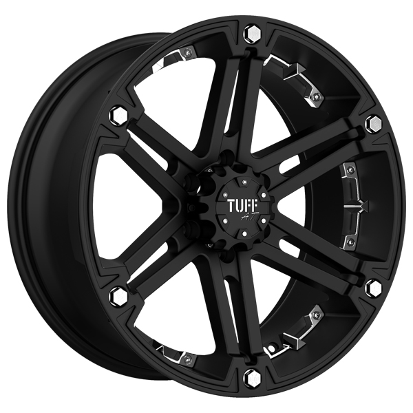 "Tuff-Luv T-01 17x8 5x139.7/5x5.5"" +10mm Flat Black Wheel Rim"
