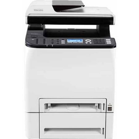 Ricoh SP C252SF Laser Multifunction Printer - Color - Plain Paper Print - Desktop - Copier/Fax/Printer/Scanner - 21 ppm
