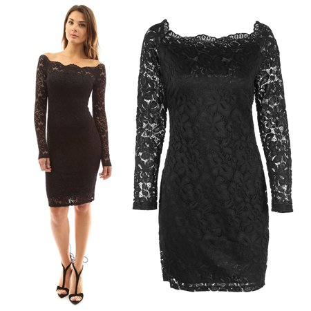 Yosoo 2colors 4sizes Off Shoulder Hollowed Lace Bodycon Long Sleeve