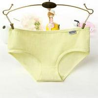 Solid Color Women Skinny Underpants Casual Low Waist Simple Briefs Panties