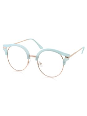 Product Image Womens Trendy Round Cat Eye Metal Clear Black Glasses c45432f0c2