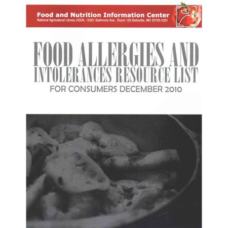 Food Allergies And Intolerances Resource List For Consumers  December 2010