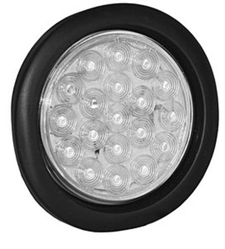 "Global Industrial 4"" Round Clear Strobe Light"