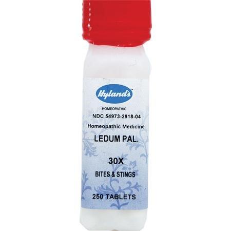 Hyland's Ledum Pal  30X Tablets, Natural Relief of Bites, Stings & Minor  Puncture Wounds, 250 Count