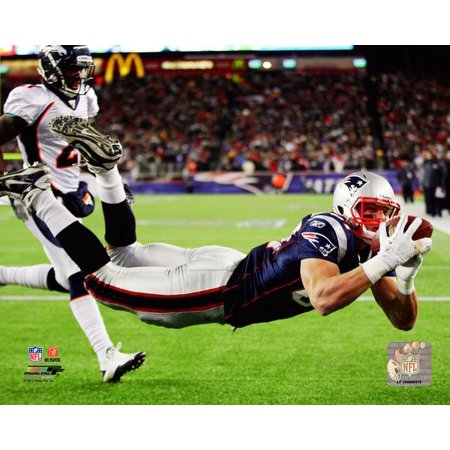 Rob Gronkowski Touchdown AFC Divisional Playoff Game Action Photo Print