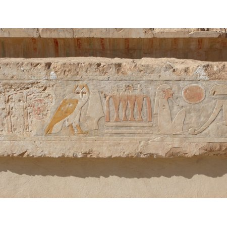 - LAMINATED POSTER Owl Egypt Relief Temple Hieroglyphics Poster Print 24 x 36
