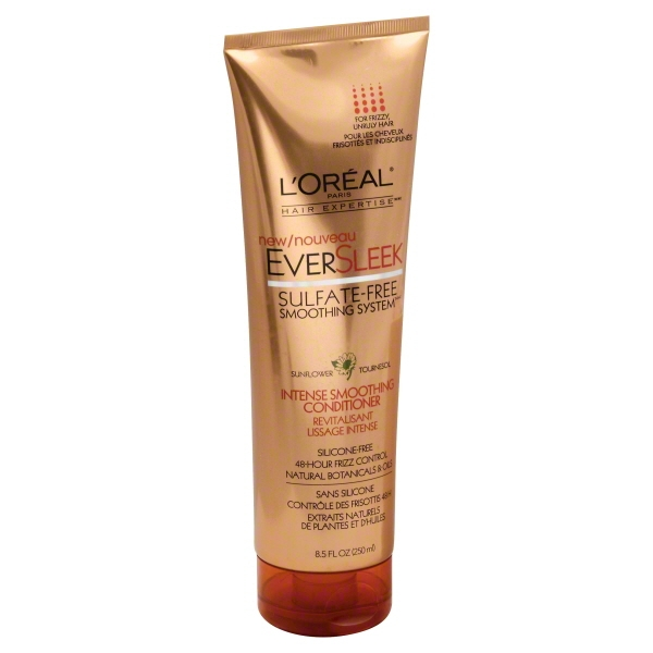 L'Oreal Paris Hair Expertise EverSleek Sulfate-Free Smoothing System Intense Smoothing Conditioner, 8.5 FL OZ