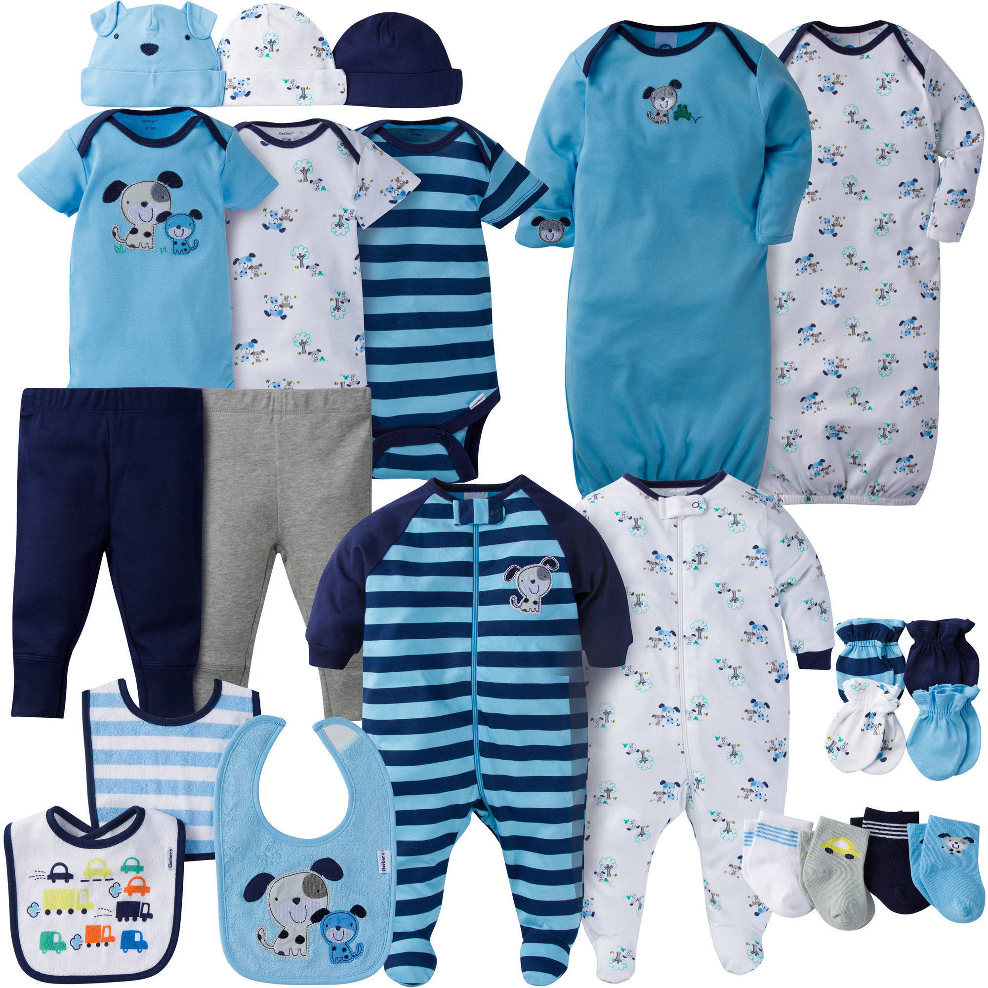 Gerber Newborn Baby Boy Perfect Baby Shower Gift Layette Set, 23-Piece