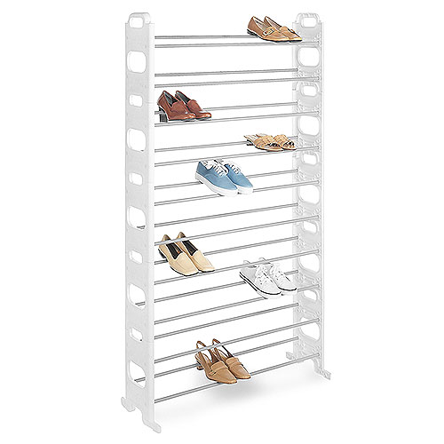 Whitmor 50-Pair Shoe Tower, White