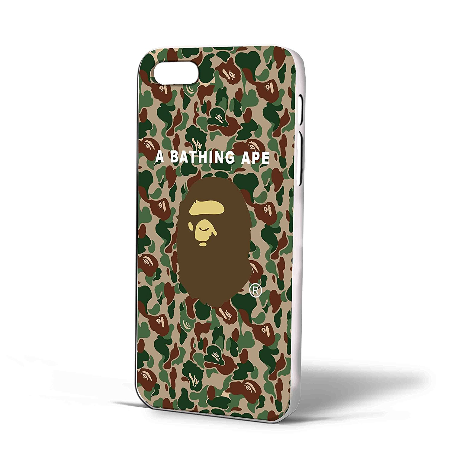 Ganma Bape a Bathing Ape Amry Texture Case For iPhone Case (Case For iPhone 6s White)