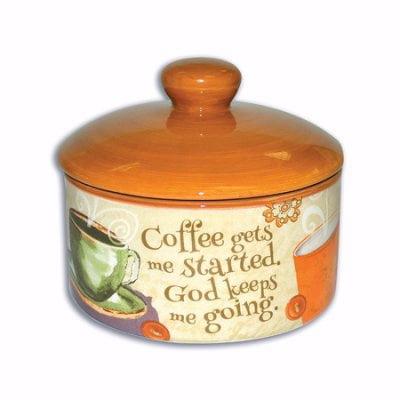 Sugar Bowl W Lid Coffee Collection  4 5