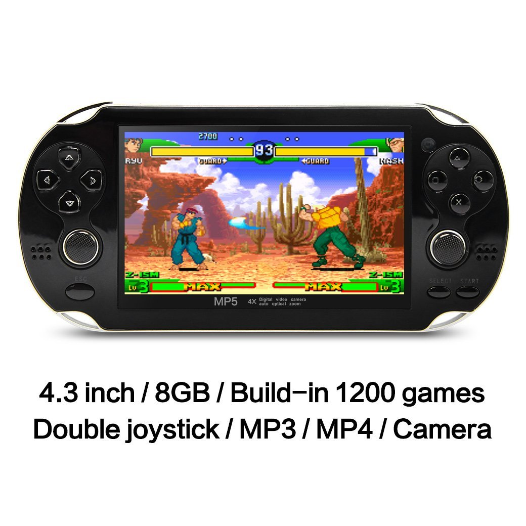 Smarit 8GB Handheld Game Console 4.3 Inch 32Bit Video Gam...