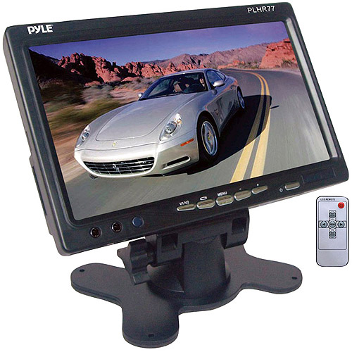 "Pyle PLHR77 7"" Widescreen TFT LCD Video Monitor with Headrest Shroud and Mount"