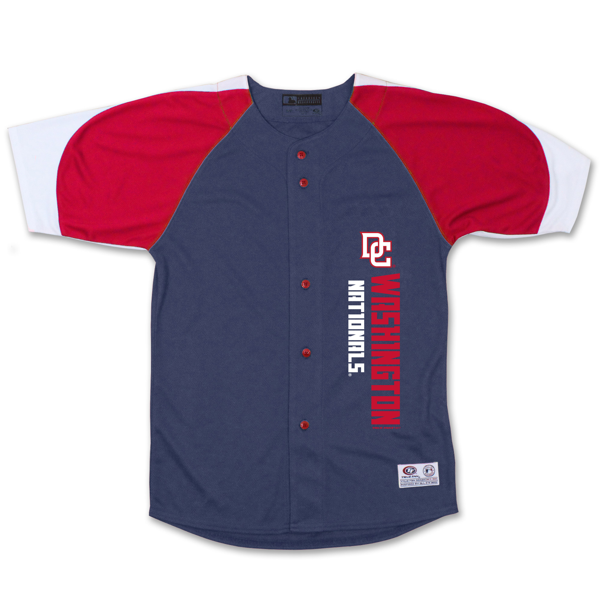Washington Nationals Stitches Youth Vertical Jersey - Navy/Red