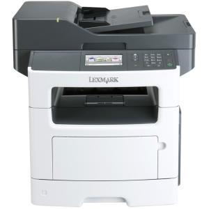 """Lexmark MX511DHE Laser Multifunction Printer - Monochrome - Plain Paper Print - Desktop - Copier/Fax/Printer/Scanner - 45 ppm Mono Print - 1200 x 1200 dpi Print - 42 cpm Mono Copy - 4.3"""" Touc"""