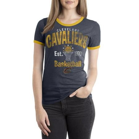 Cavaliers Pocket (Cleveland Cavaliers Women's NBA Short Sleeve Biblend Crew Neck Tee )