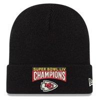 Kansas City Chiefs New Era Super Bowl LIV Champions Cuffed Knit Hat - Black - OSFA