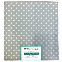 "Waverly Inspirations Cotton 18"" x 21"" Fat Quarter Medium Dot Dove rint Fabric, 1 Each"