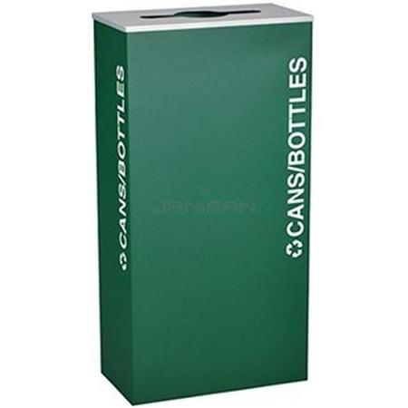 Ex-Cell Kaiser RC-KD17-O EGX XL Series 17 Gallon Rectangular Recycling Receptacle,