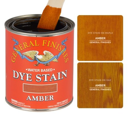 General Finishes, Water Based Dye, Amber, Pint Amber Scavo Finish