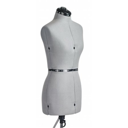 FAMILY DRESSFORM FM-M Family Medium Adjustable Mannequin Dress Form Grey
