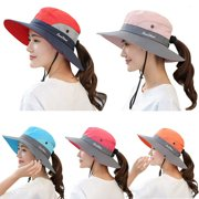 The Noble Collection Women Ladies Hat Sun Wide Brim Cap Beach Summer Visor Uv Cotton Cover Protection