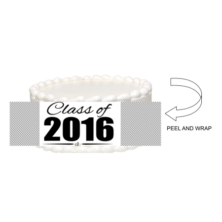 Class of 2016 Graduation Edible Photo Image Cake Border Decoration