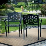 Belham Living Sorrento Cast Aluminum Stackable Patio Dining Arm Chair - Set of 4