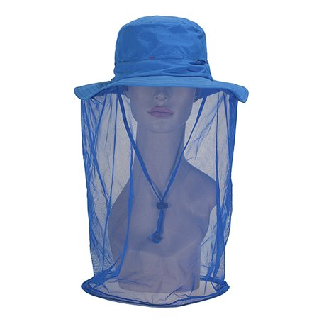 Outdoor Anti-mosquito Mask Hat with Head Net Mesh Face Protection Fishing Sun Hat Cap