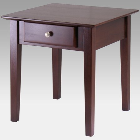 Rochester Leg Table - Winsome Wood Rochester Shaker Legs End Table, Walnut Finish