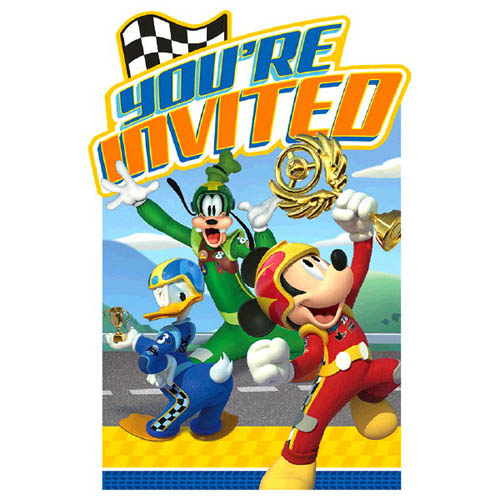 Mickey Mouse 'Mickey and the Roadster Racers' Invitations w/ Envelopes (8ct)