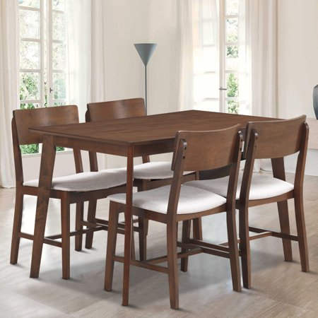 Superb Gymax 5 Pcs Mid Century Modern Dining Table Set Kitchen Download Free Architecture Designs Remcamadebymaigaardcom