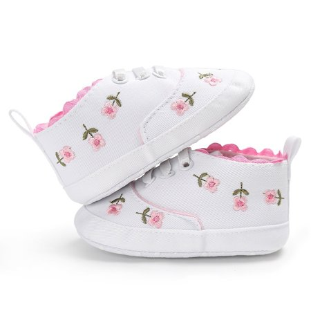 Flower Baby Kid Girl Soft Sole Crib Toddler Summer Princess Shoes Advice 0-18 Months - image 2 of 5