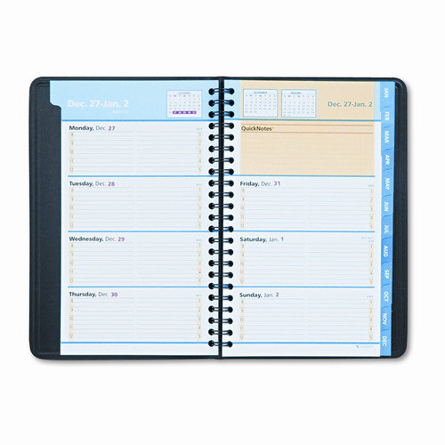 AT-A-GLANCE                                        QuickNotes Weekly/Monthly Appointment Book, 4-7/8 x 8, Black, 2014