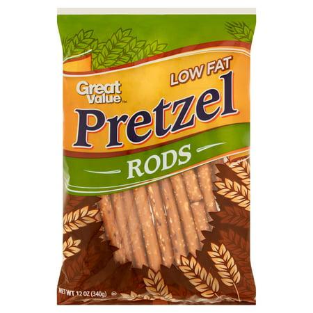 Great Value Pretzel Rods, Low Fat, 12 oz