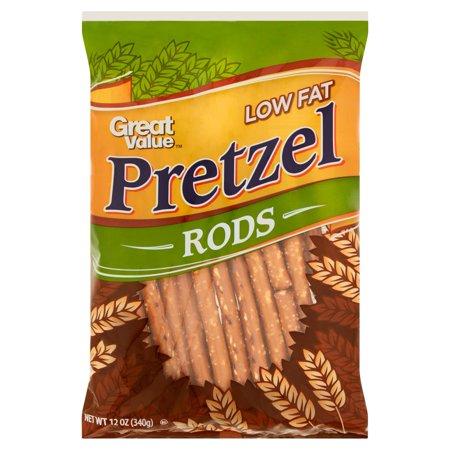 (4 Pack) Great Value Pretzel Rods, Low Fat, 12 oz - Halloween Pretzel Rod Molds