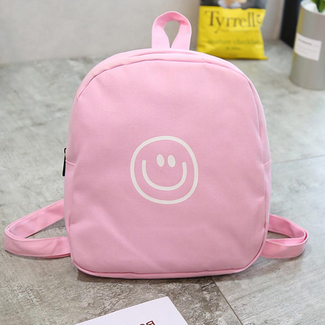 Mini Backpack, Coofit Cartoon Canvas Small School Backpack Travel Rucksack for Girls Women Kids (Pink)