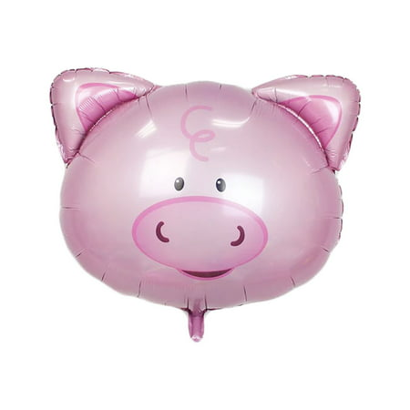 Unique Bargains Home Foil Pig Design Inflation Helium Balloon Anniversary Ornament 8 Inch - Pig Helium Balloon