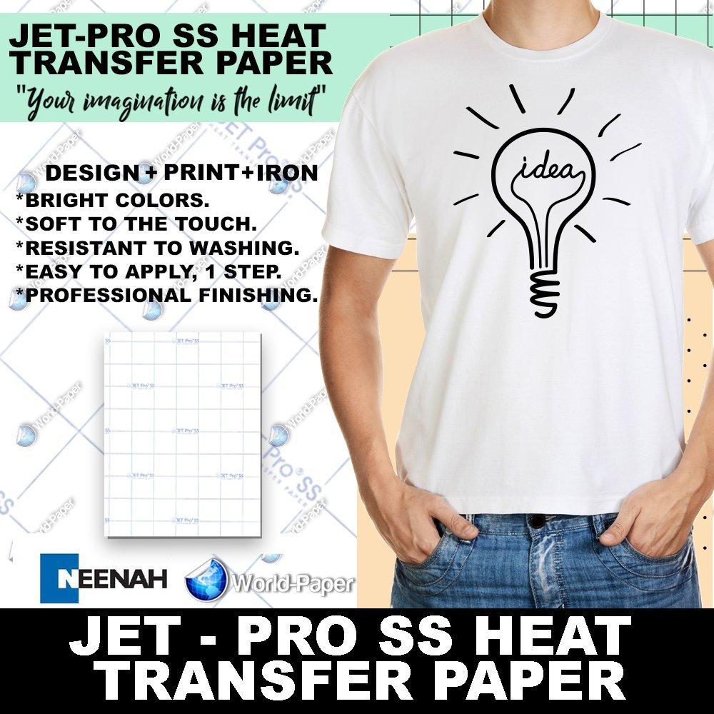 "JET-PROSS JETPRO SOFSTRETCH HEAT TRANSFER PAPER 8.5 X 11""..."