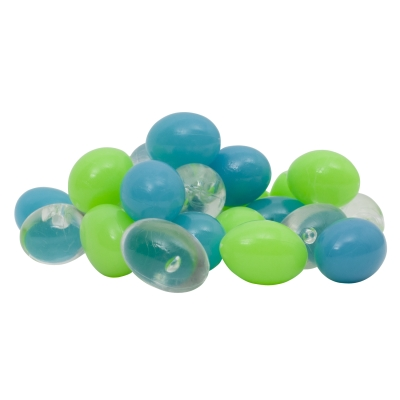 (2 Pack) GloFish Blue/Green/Clear Pebble Aquarium Accent Bead Gravel, 3-Ounce