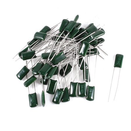 100v Radial Mini Electrolytic Capacitor (Unique Bargains 50 x Radial Leads Polyester Film Cap Capacitors Green 2A102J 100V 1nF 5% )