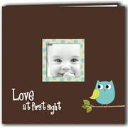 "Baby Owl Printed Design Post Bound Scrapbook Album 12""X12""-Blue"