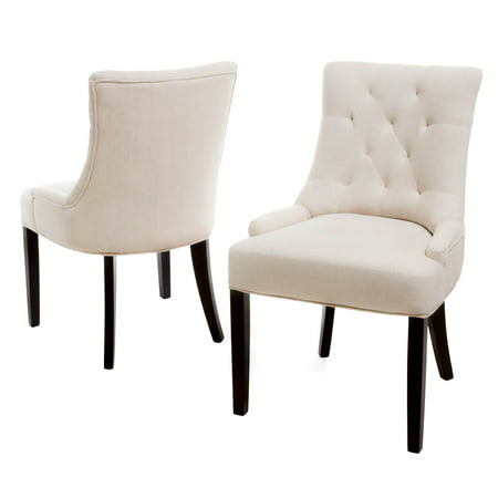 Johnson Tufted Fabric Dining Chair, Set of 2, Beige ()